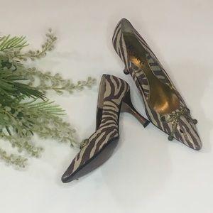 J Renee metallic animal print heels - Size 7 1/2 M